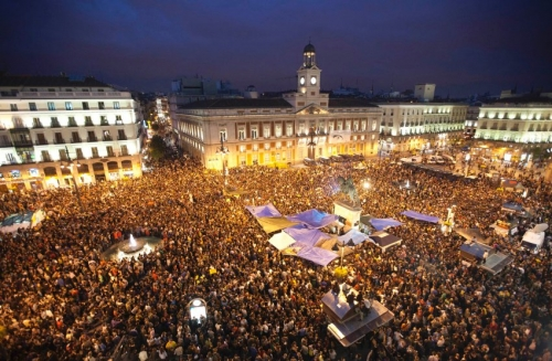 Protests at Puerta del Sol, Madrid