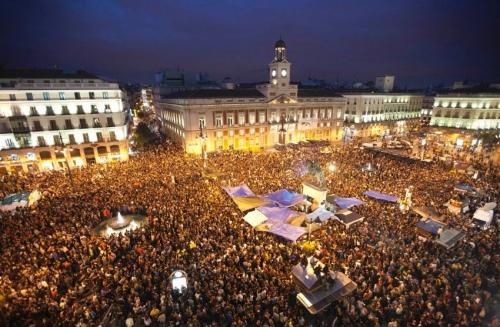 Protests at Puerta del Sol, Madrid